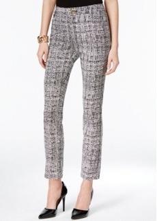 Tahari Asl Jacquard Print Straight-Leg Pants