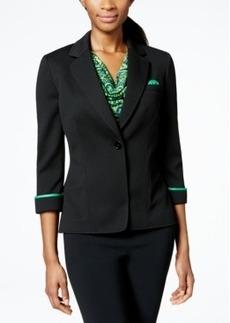 Tahari Asl Knit Pocket-Square Jacket