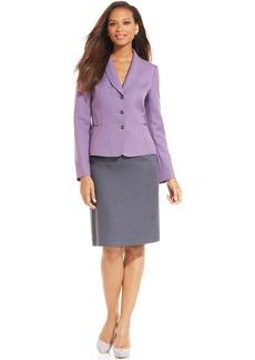 Tahari ASL Lavender-Blazer Skirt Suit
