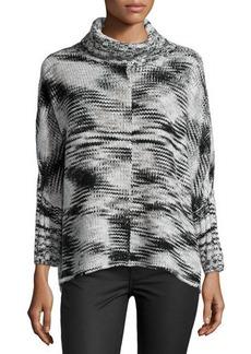 Tahari Mary Tie-Dye-Knit Wool-Blend Sweater
