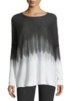 Tahari Maryanne Striped Ombre Dolman Sweater