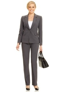 Tahari Asl One-Button Hardware-Detail Pantsuit