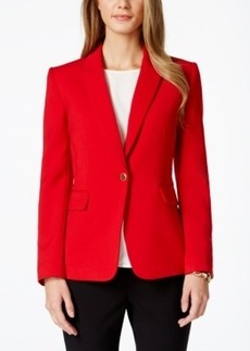 Tahari Asl One-Button Ponte Blazer