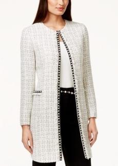 Tahari Asl Pearl-Trim Tweed Boucle Jacket