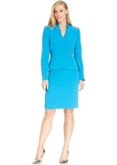 Tahari ASL Asymmetrical Jacket Skirt Suit
