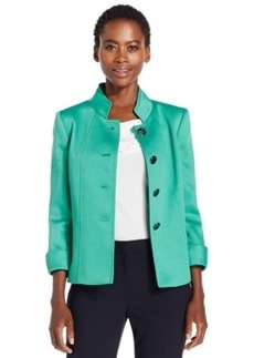 Tahari Asl Petite Four-Button Hopsack Jacket