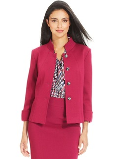 Tahari ASL Petite Four-Button Stand-Collar Jacket