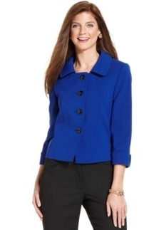 Tahari Asl Petite Four-Button Three-Quarter-Sleeve Jacket