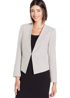 Tahari Asl Petite Hook-and Eye Jacket