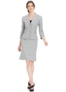 Tahari ASL Petite Houndstooth Skirt Suit