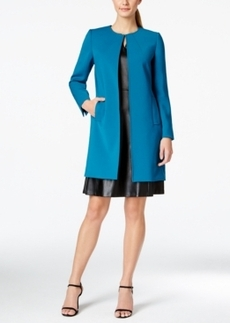 Tahari Asl Petite Long Collarless Jacket