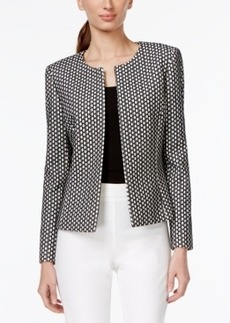 Tahari Asl Petite Open-Front Lace Blazer