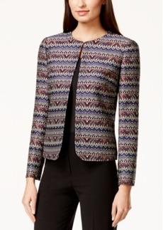 Tahari Asl Petite Printed Jacquard jacket