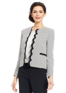 Tahari Asl Printed Open-Front Jacket