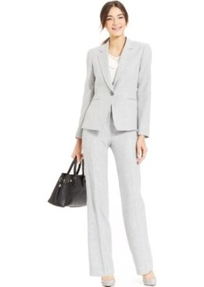 Tahari ASL Single-Button Melange Pantsuit