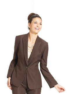 Tahari ASL Petite Single-Button Textured Twill Jacket