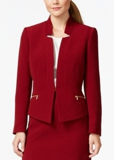 Tahari Asl Textured Zip-Pocket Jacket