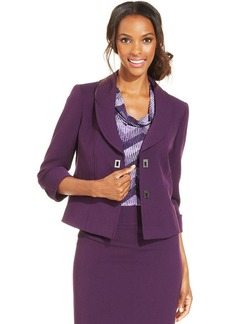 Tahari ASL Petite Three-Quarter-Sleeve Turnlock Jacket