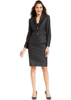 Tahari ASL Petite Two-Button Skirt Suit