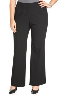 Tahari Asl Plus Size Flat-Front Stretch Trousers