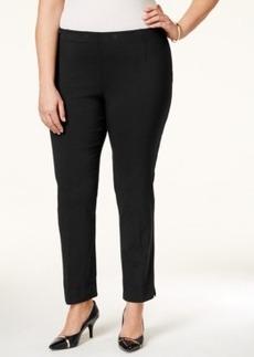 Tahari Asl Plus Size Flat-Front Stretch Trousers