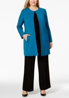 Tahari Asl Plus Size Long Ponte Jacket