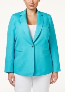 Tahari Asl Plus Size One-Button Jacket