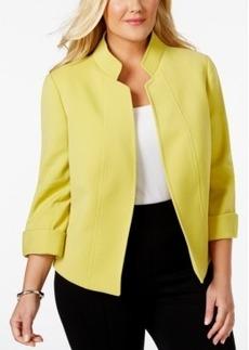 Tahari Asl Plus Size Open-Front Three-Quarter-Sleeve Jacket