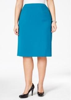 Tahari Asl Plus Size Ponte Skirt