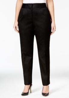 Tahari Asl Plus Size Straight-Leg Poplin Pants