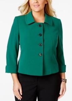 Tahari Asl Plus Size Three-Quarter-Sleeve Jacket