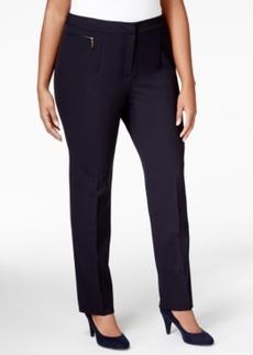 Tahari Asl Plus Size Zipper Pocket Straight Leg Pants