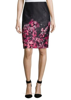 Tahari Polly Floral Pencil Skirt
