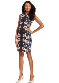 Tahari Asl Printed Sheath Dress