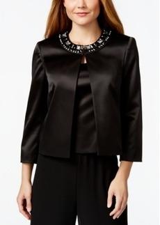 Tahari Asl Satin Embellished Jacket and Shell Top