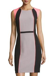 Tahari ASL Sleeveless Colorblock Sheath Dress