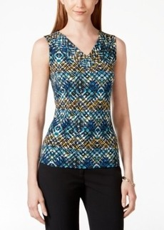 Tahari Asl Sleeveless Printed Shell