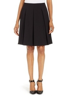 Tahari Asl Solid Pleated Skirt