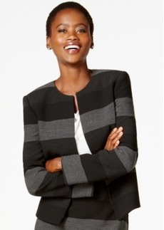 Tahari Asl Striped Open-Front Blazer