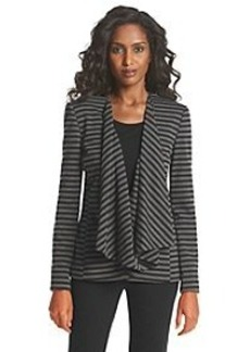 Tahari ASL® Striped Open-Front Jacket