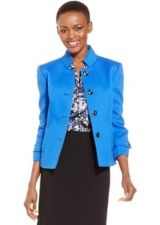 Tahari Asl Textured Four-Button Jacket