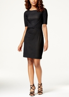 Tahari Asl Textured Stripe Shift Dress