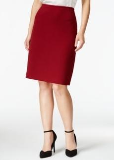 Tahari Asl Textured Pencil Skirt