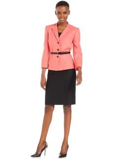 Tahari ASL Petite Belted Skirt Suit