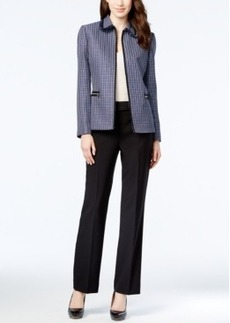 Tahari Asl Tweed Jacket Pantsuit