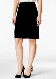 Tahari Asl Velvet Pencil Skirt