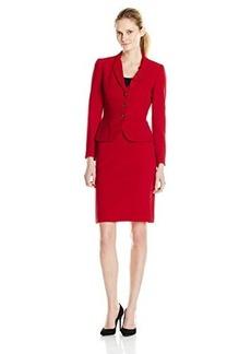Tahari ASL Women's Anna Skirt Suit, Red, 12