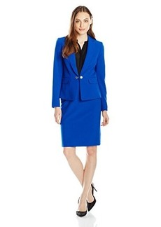 Tahari ASL Women's Lindsay Skirt Suit, Royal, 2
