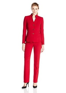 Tahari ASL Women's Valerie Pant Suit, Red, 2