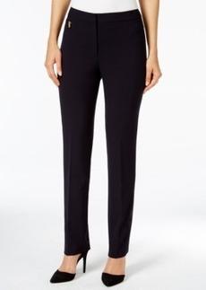 Tahari Asl Zipper Pocket Straight Leg Pants